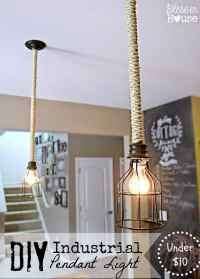 DIY Industrial Pendant Light for Under $10 - Bless'er House