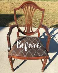 Raw Silk Painted Master Bedroom Chair - Bless'er House