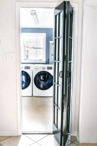 Laundry Room Updates: French Bifold Door - Bless'er House