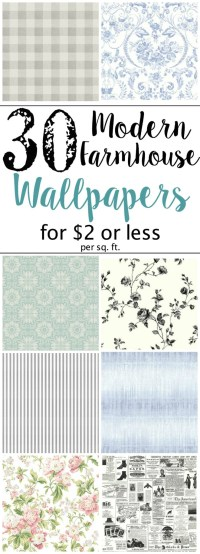 The Best Modern Farmhouse Wallpaper Designs on a Budget ...