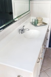 DIY Painted Bathroom Sink Countertop - Bless'er House