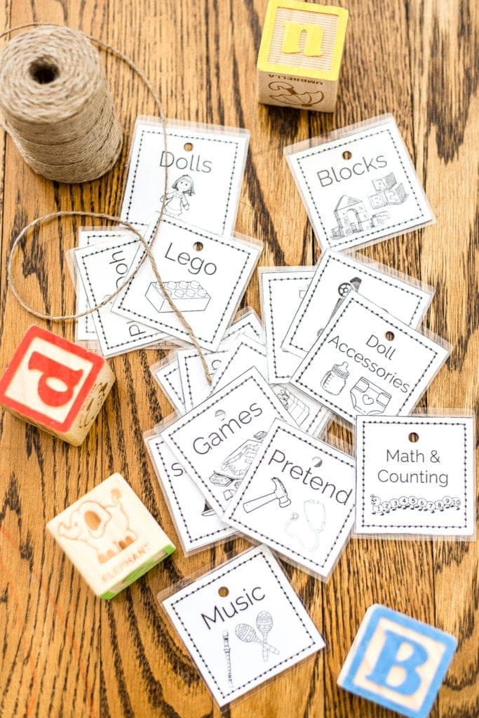Toy Organization Printable Labels and Playroom Storage - Bless\u0027er House
