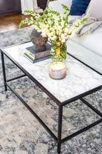 Faux Marble Top Coffee Table - Bless'er House