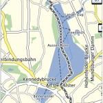 GPS-Track über die Alster