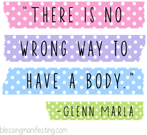 Don't Apologize For Your Body