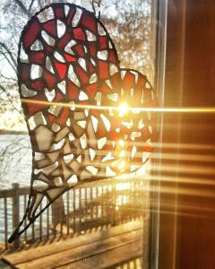 HEART! Sunshine StainedGlass Sunset MyHouseIsMyArtProject Windows Sunflare Light NaturalLight Lovehellip