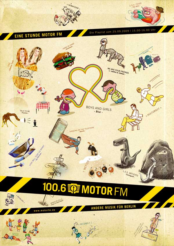 MotorFM new campaign 2009, Illustrationen © www.pulk-berlin.com