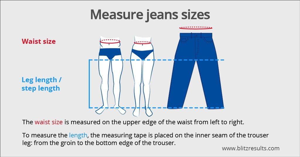 Jeans Size Charts for Wrangler, Diesel, Levi\u0027s + Many More