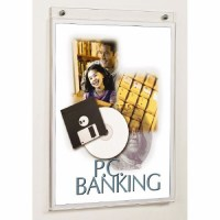 Acrylic Wall Mounted Sign Holder   Block and Company
