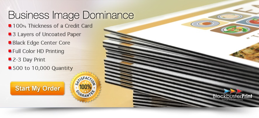 Black Edge Business Cards - 32pt Business Card Printing - Ultra