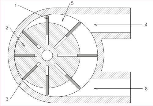 rotary vane vacuum pump diagram