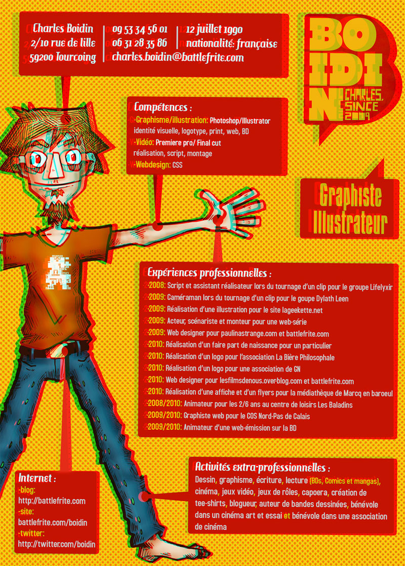 cv illustrateur graphiste
