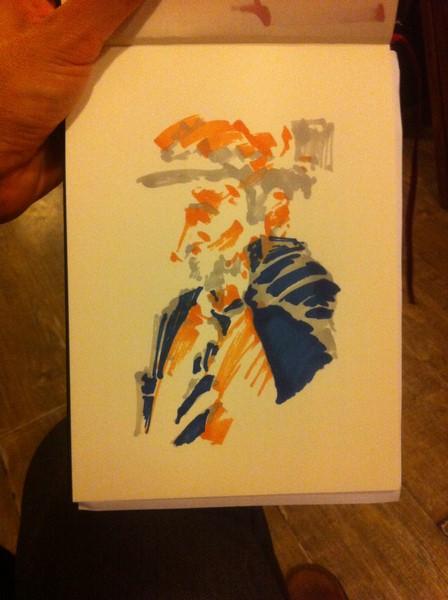 L'avant dernière étape pour dessiner un portrait en couleur