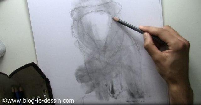 dessiner visage de fille tutoriel planche contours 5B