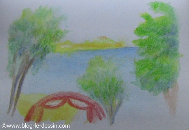 croquis crayon aquarelle pur