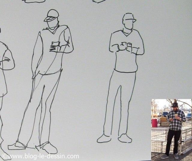 dessin pose dynamique contrapposto