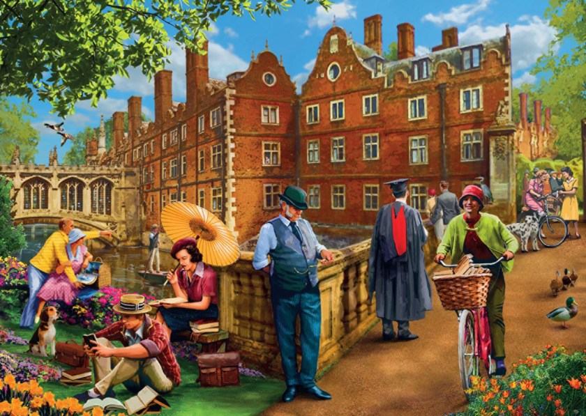 Afternoon in Cambridget Jumbo Jigsaw Puzzle