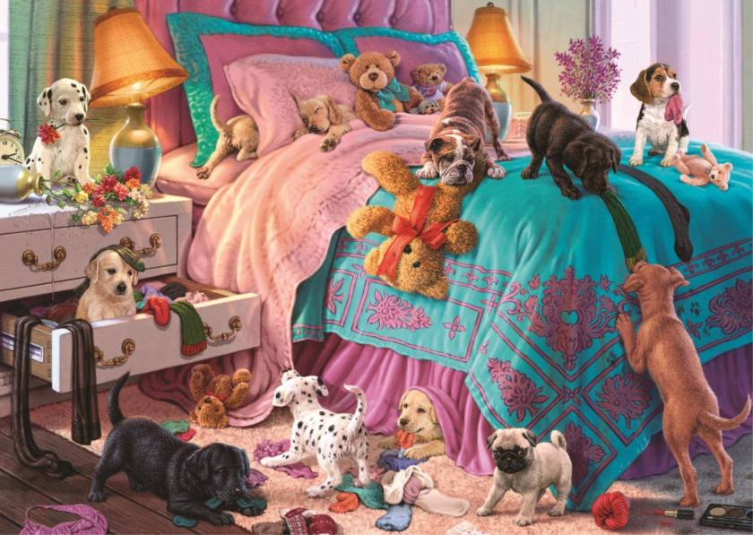 Puppies and Kittens 2 x 500 piece jigsaw puzzles