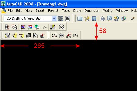 AutoCAD 2008 Docked Toolbars