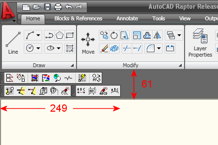 AutoCAD 2009 Docked Toolbars