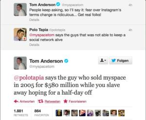 myspace tom twitter putdown