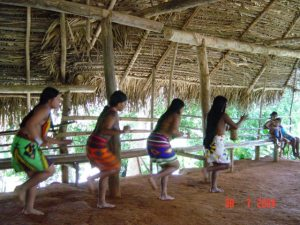 Embera women dancers