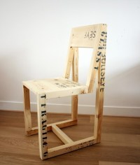 Design Squish Blog: DIY IDEA: RECLAIMED WOOD CHAIR