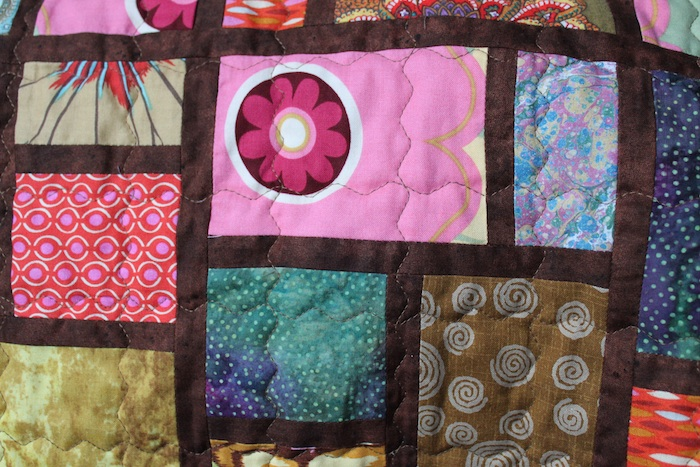 Quilting with walking foot