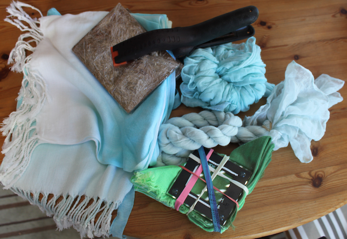 Scarves to be overdyed
