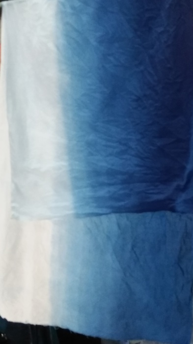 ombre sample dip dyed by roland ricketts in workshop drying