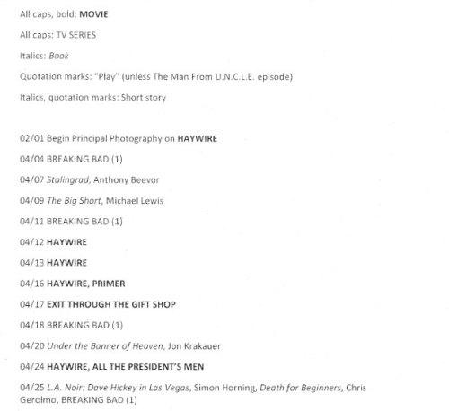 La lista de Soderbergh