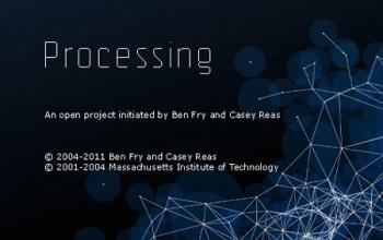 Versión 1.0 de Processing. Estaría por lanzarse la 1.5