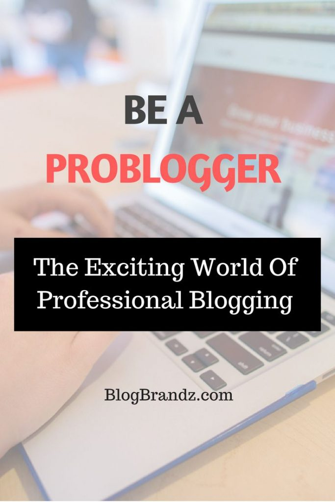 Be A Pro Blogger The Exciting World Of Professional Blogging