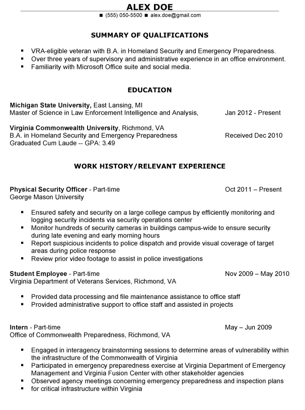 Military To Civilian Resume Template Resume Templates And Resume