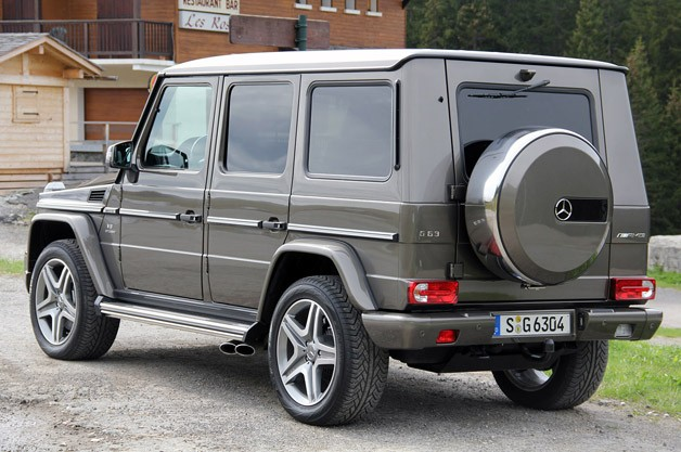 2013 Mercedes-Benz G63 AMG rear 3/4 view