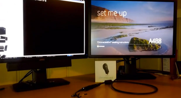 Chromecast exploit in action
