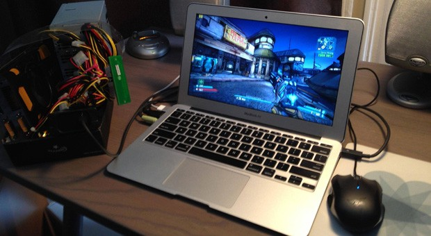 MacBook Air gets some gaming credentials through homebuilt external GPU video