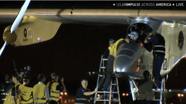 Solar Impulse ends crosscountry US flight slightly early in NY due to torn left wing