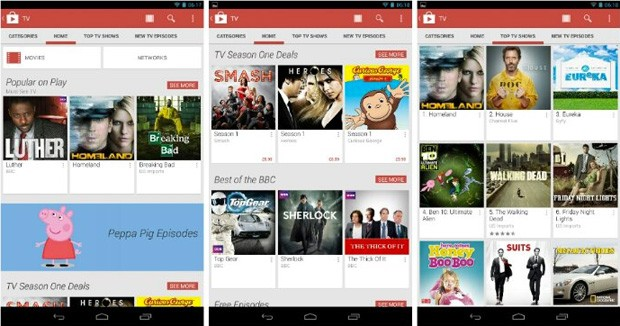 TV shows come to Google Play UK