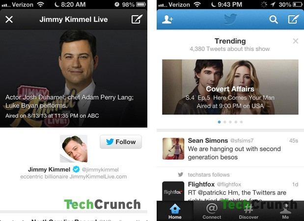 Twitter experiments with TV trending box