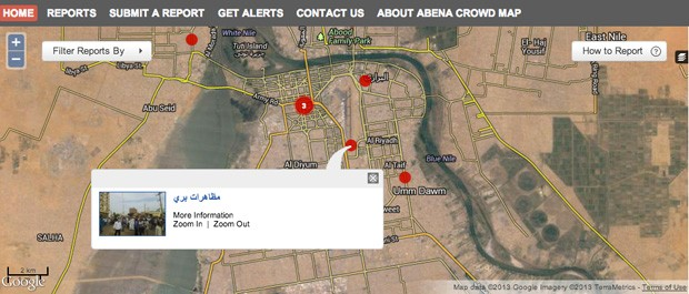 Sudan protesters using crowdmapping to get around internet shutdowns