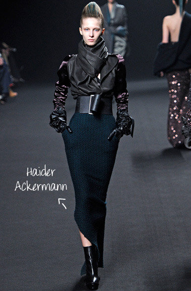 Assimetric skirt Hauder Ackermann SS12