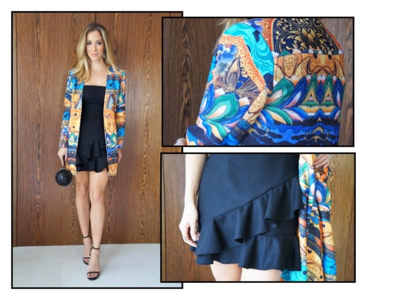 Vestido e casaco Tritt | Bolsa Chanel | Sandália YSL