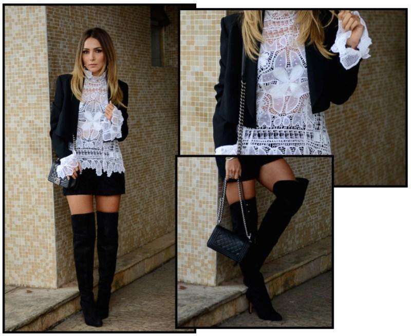Look total Martha Medeiros   bolsa Chanel   bota Vicenza