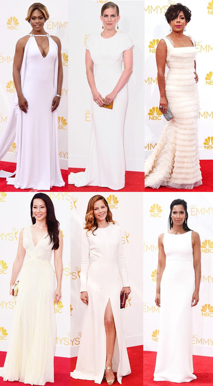 Branco luxo! LAVERNE COX, ANNA CHLUMSKY, Lucy Liu, Selenis Leyva, Michelle Monaghan e PADMA LAKSHMI