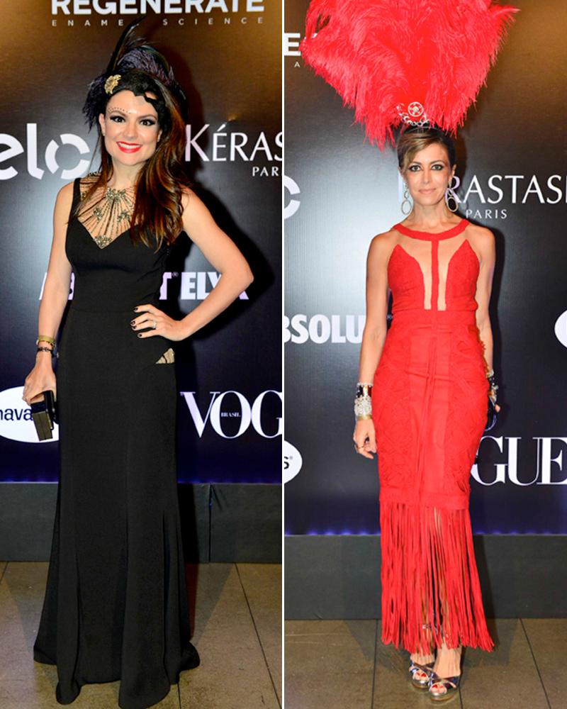 Aqui as lindas Bettys, Sophia Alckimin e Cris Tamer, musas de preto e vermelho.
