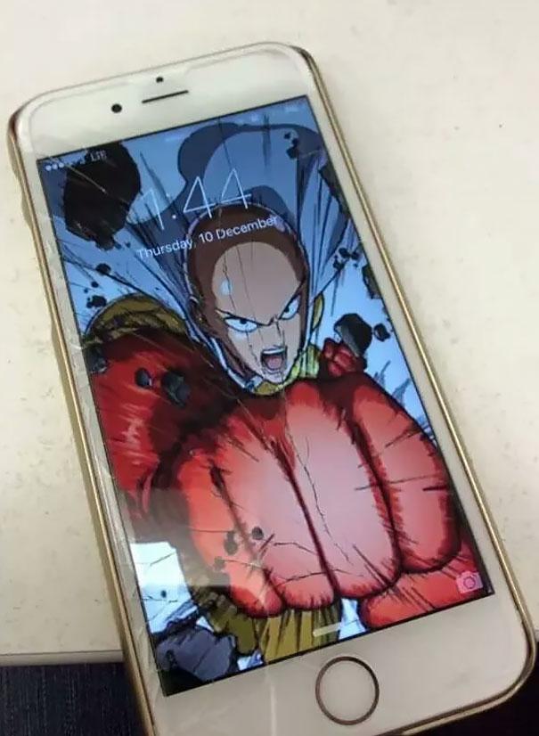 Cracked Screen Wallpaper Iphone 6 Fondos Divertidos Para M 243 Viles Con La Pantalla Rota