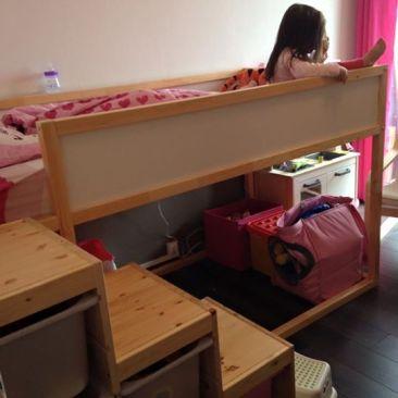1 chambre pour 2 enfants la chambre de nos filles - Lit pour enfant ikea ...