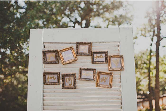 Paleta de cores para seu casamento: Marrom com dourado