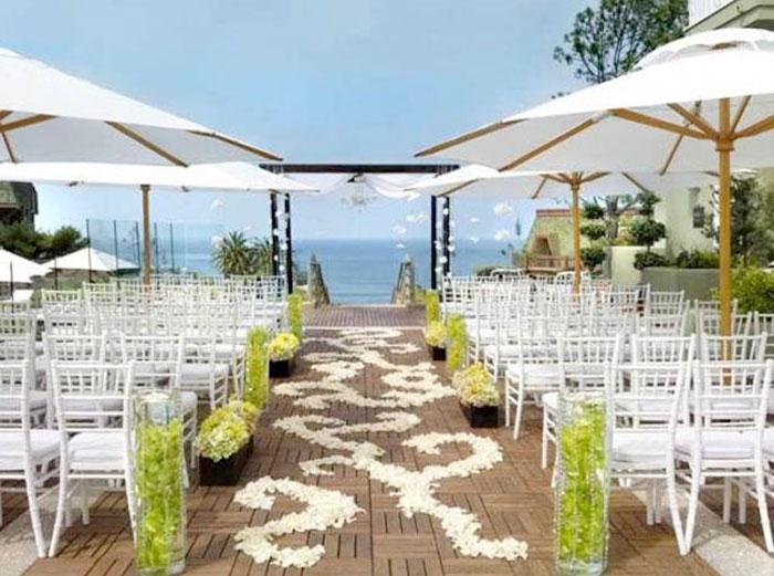 ombrelones para casamentos ao ar livre